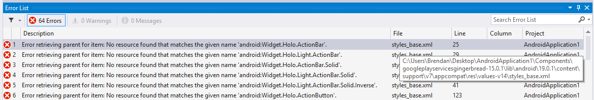 Fixing Xamarin Google Play Services (Gingerbread) compile errors